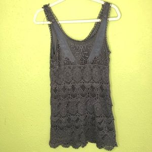 Urban Outfitters Blue Crochet/Lace Dress Small